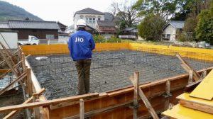 平屋住宅の基礎配筋検査