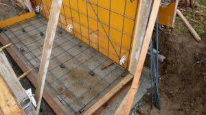 新築の平屋住宅の基礎配筋