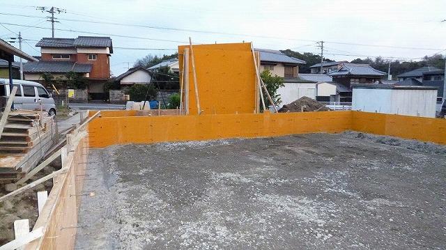 新築住宅の平屋、基礎型枠